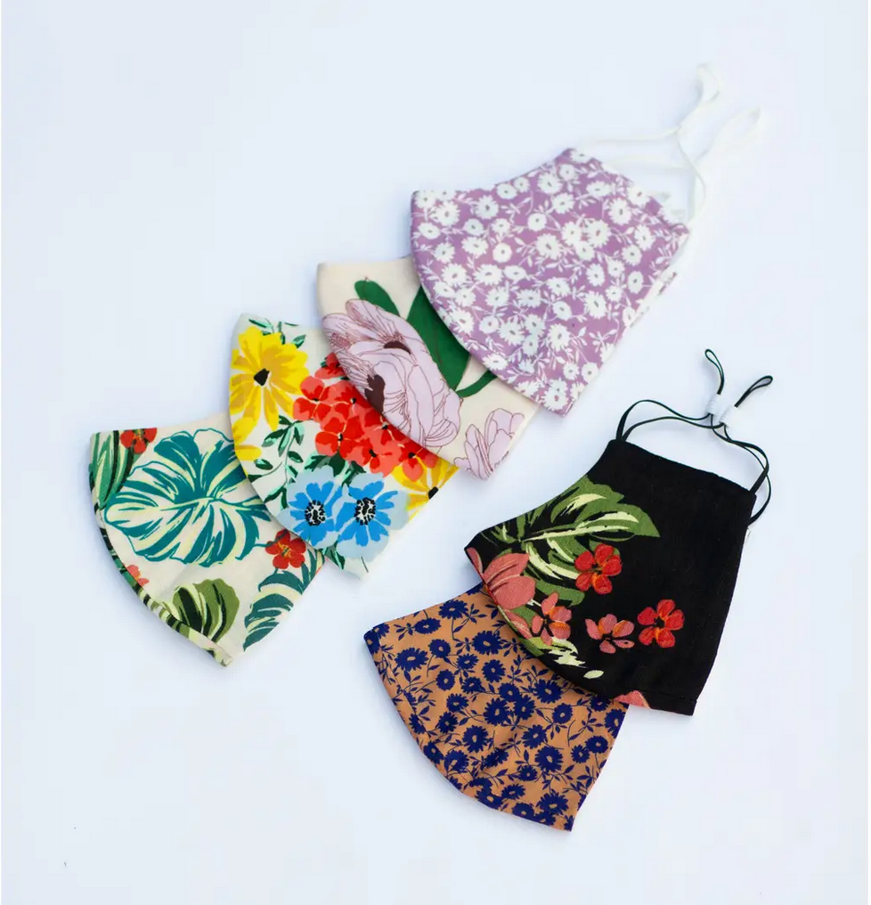 Lost + Wander Adult Face Mask - FALL FLORALS