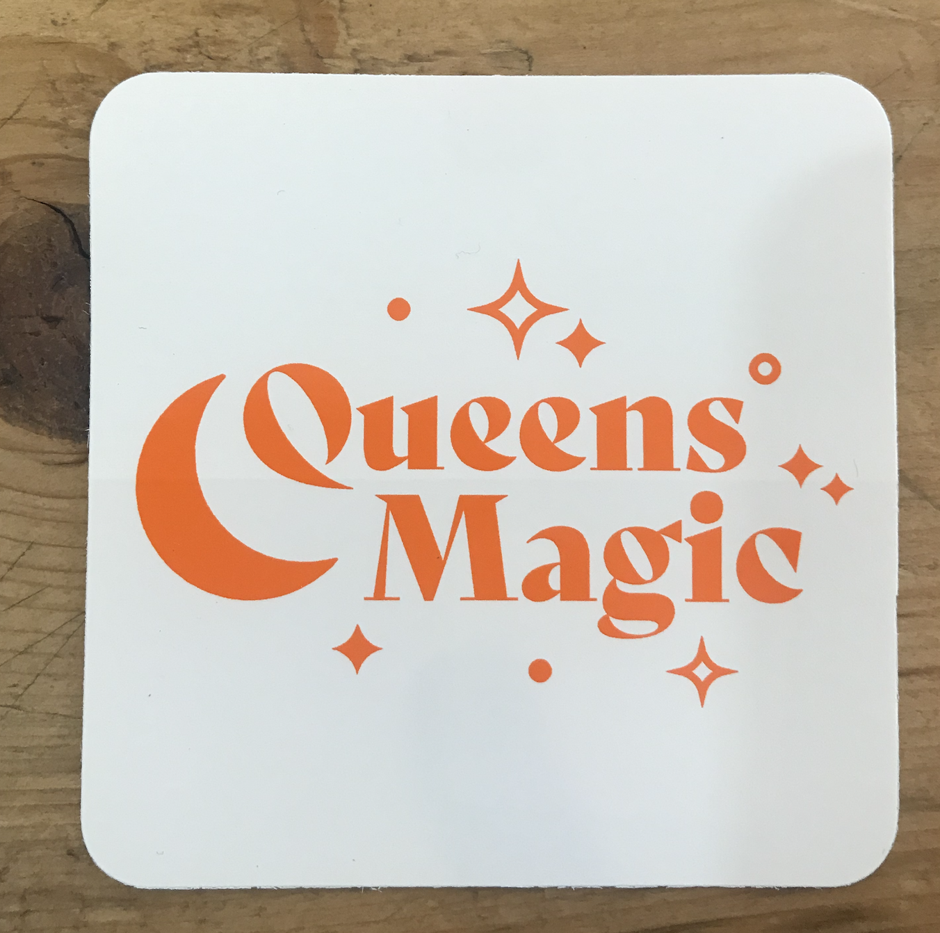Design Brand Print Queens Magic Sticker
