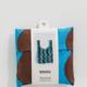 Baggu Standard Baggu- Teal/Brown Wavy Stripe