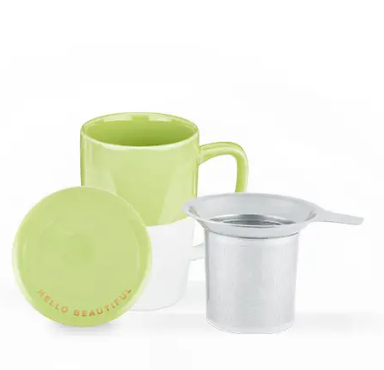 Pinky Up Delia Green Tea Mug & Infuser