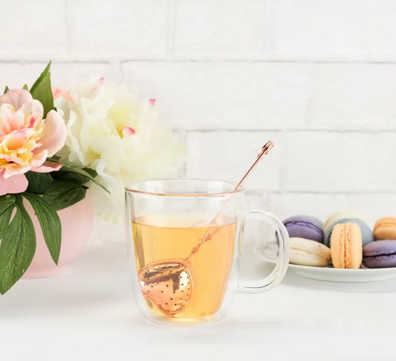 Pinky Up Rose Gold Heart Tea Infuser