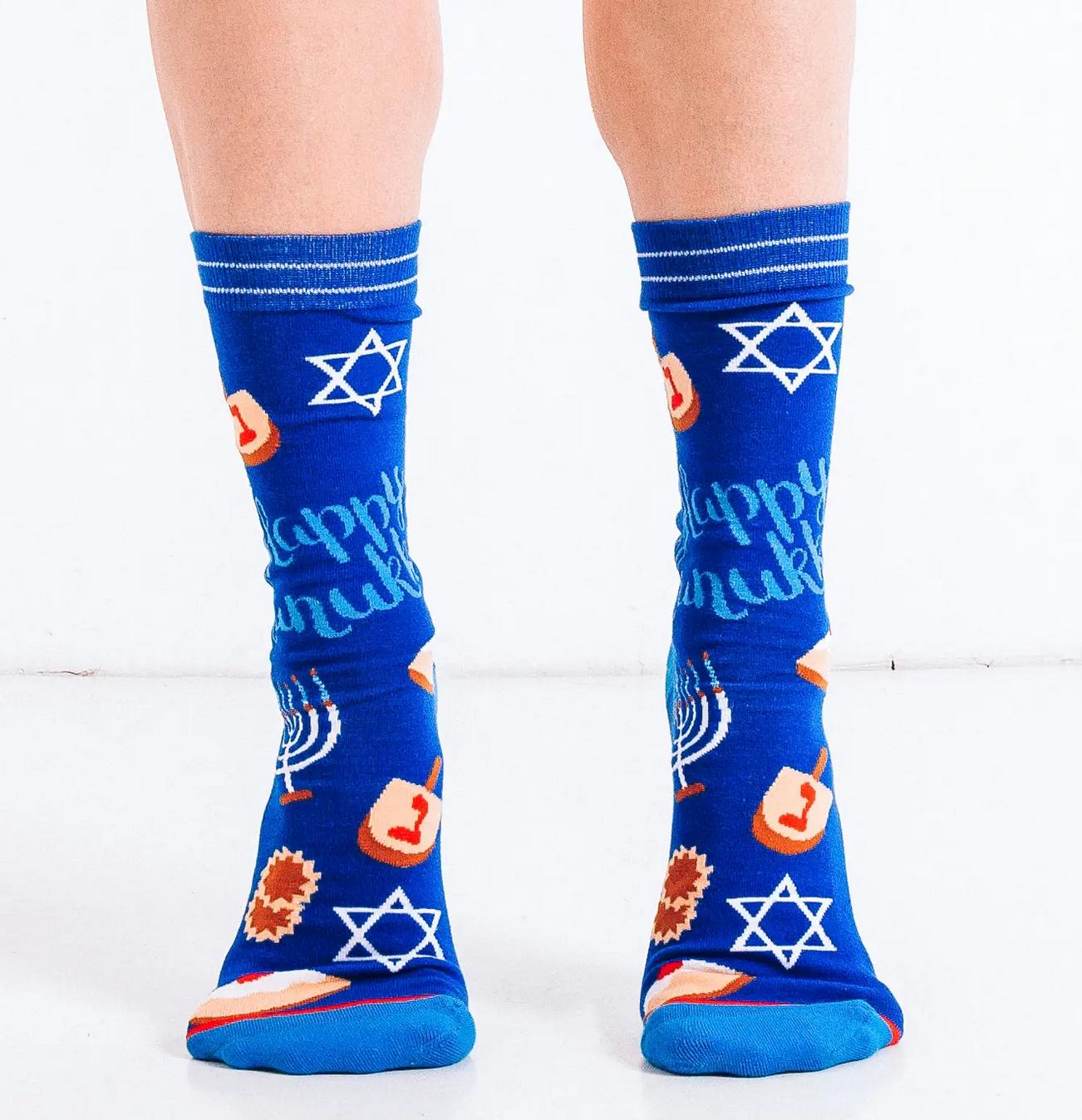 Woven Pear Hanukkah Socks