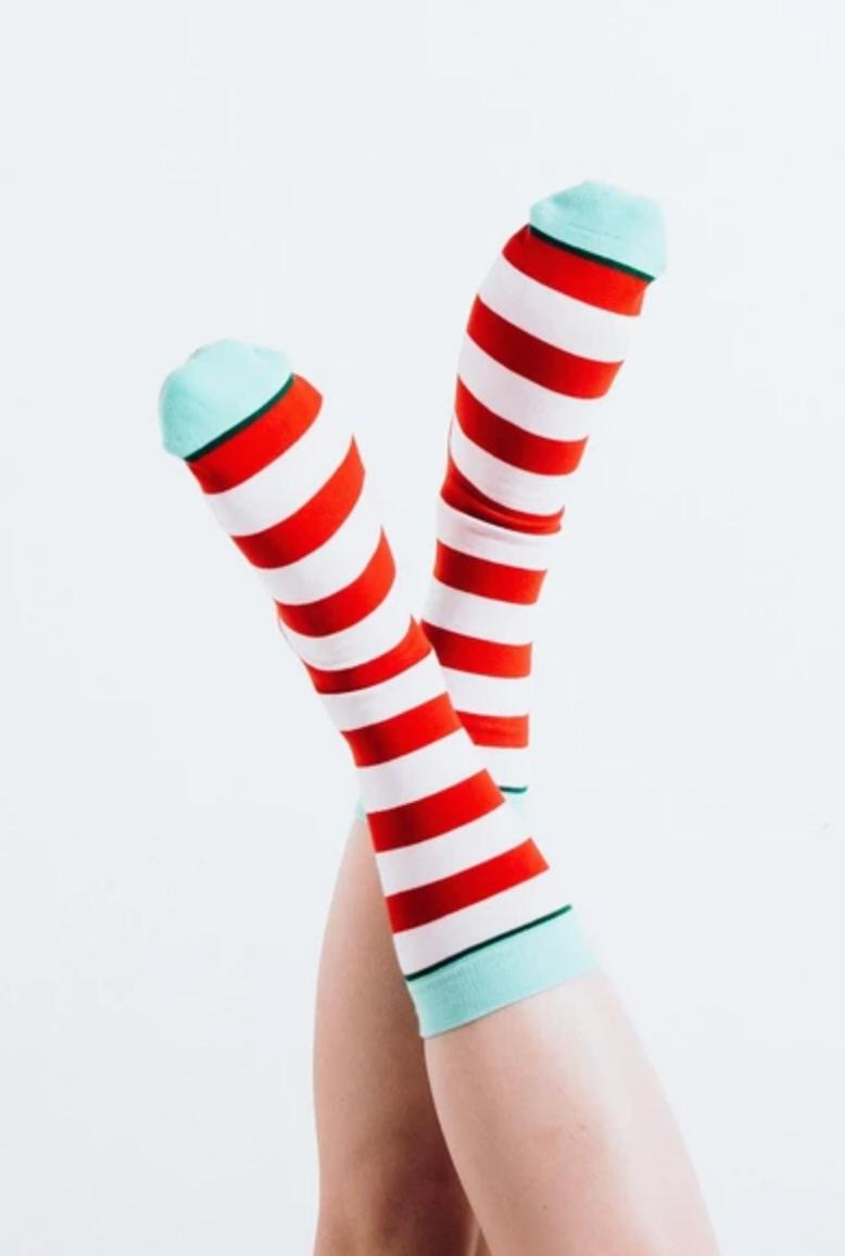 Woven Pear Naughty or Nice Socks