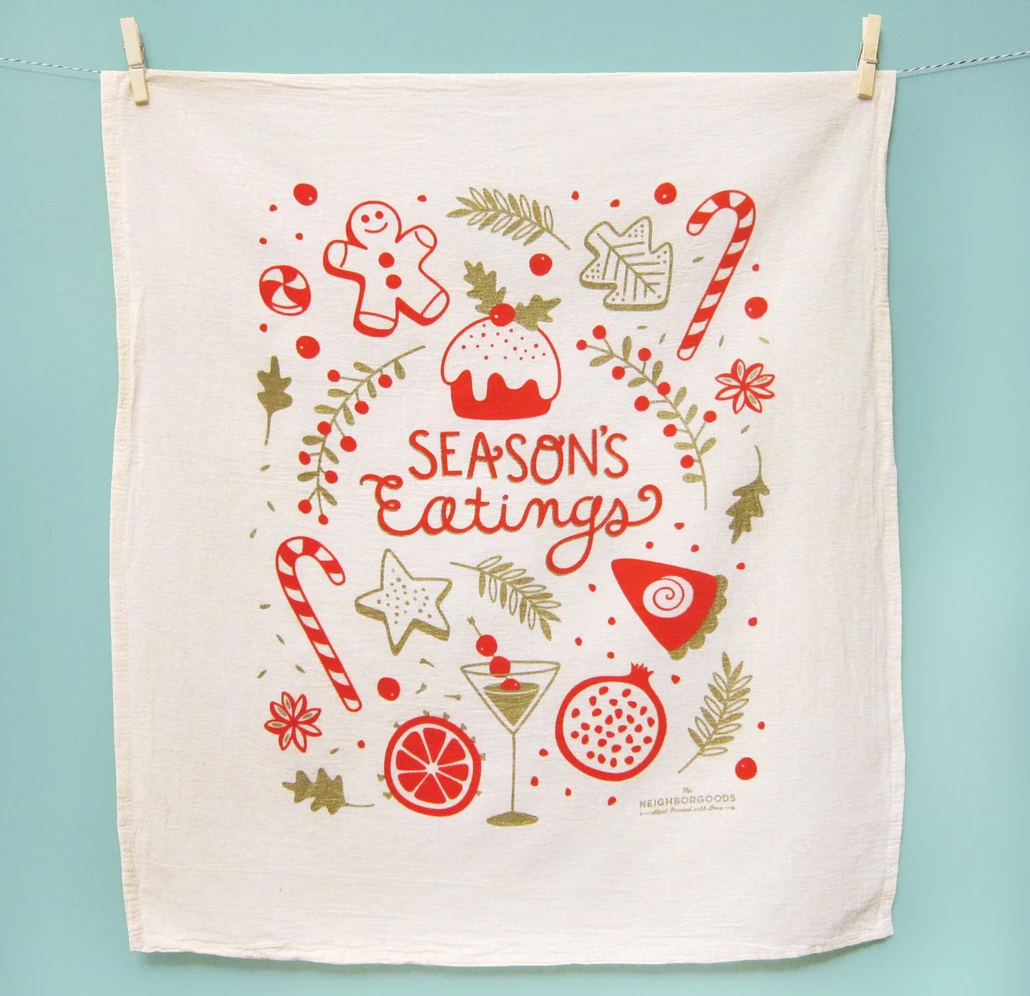 The Neighborgoods Dish Towel Set- Happy Holidays