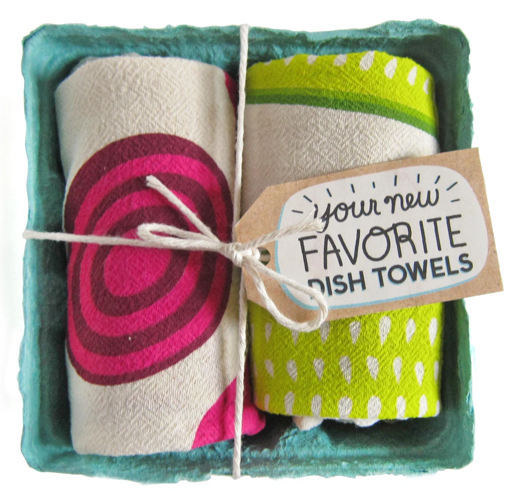 The Neighborgoods Dish Towel Set- Pickled Please