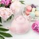 Pinky Up Rega Light Pink Ceramic Teapot & Infuser