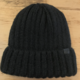 David & Young Ribbed Cuff Beanie - Black