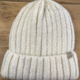 David & Young Ribbed Cuff Beanie - Ivory