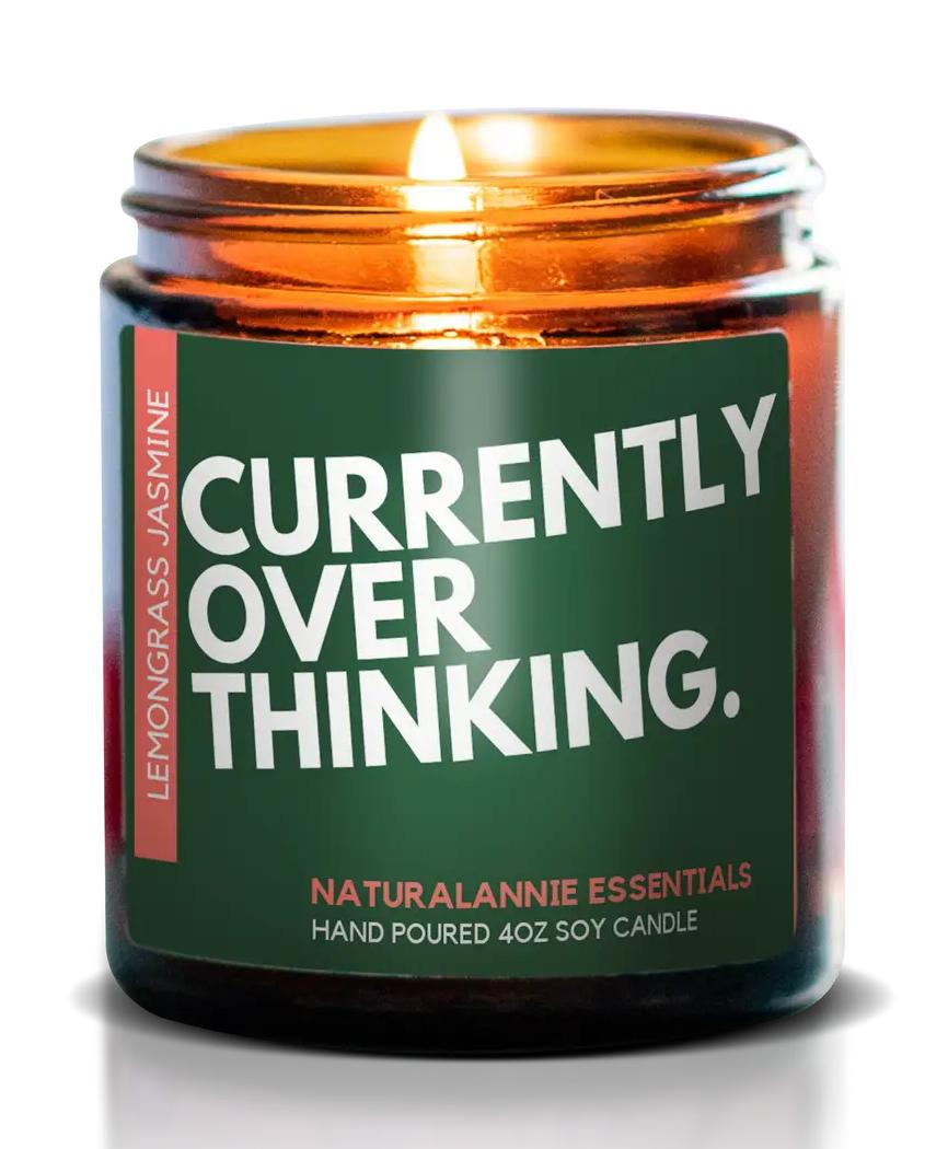 NaturalAnnie Essentials Currently Overthinking 4oz-Lemongrass&Jasmine