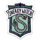 "Brittany Paige HP Slytherin ""Sneaky Witch"" Sticker"