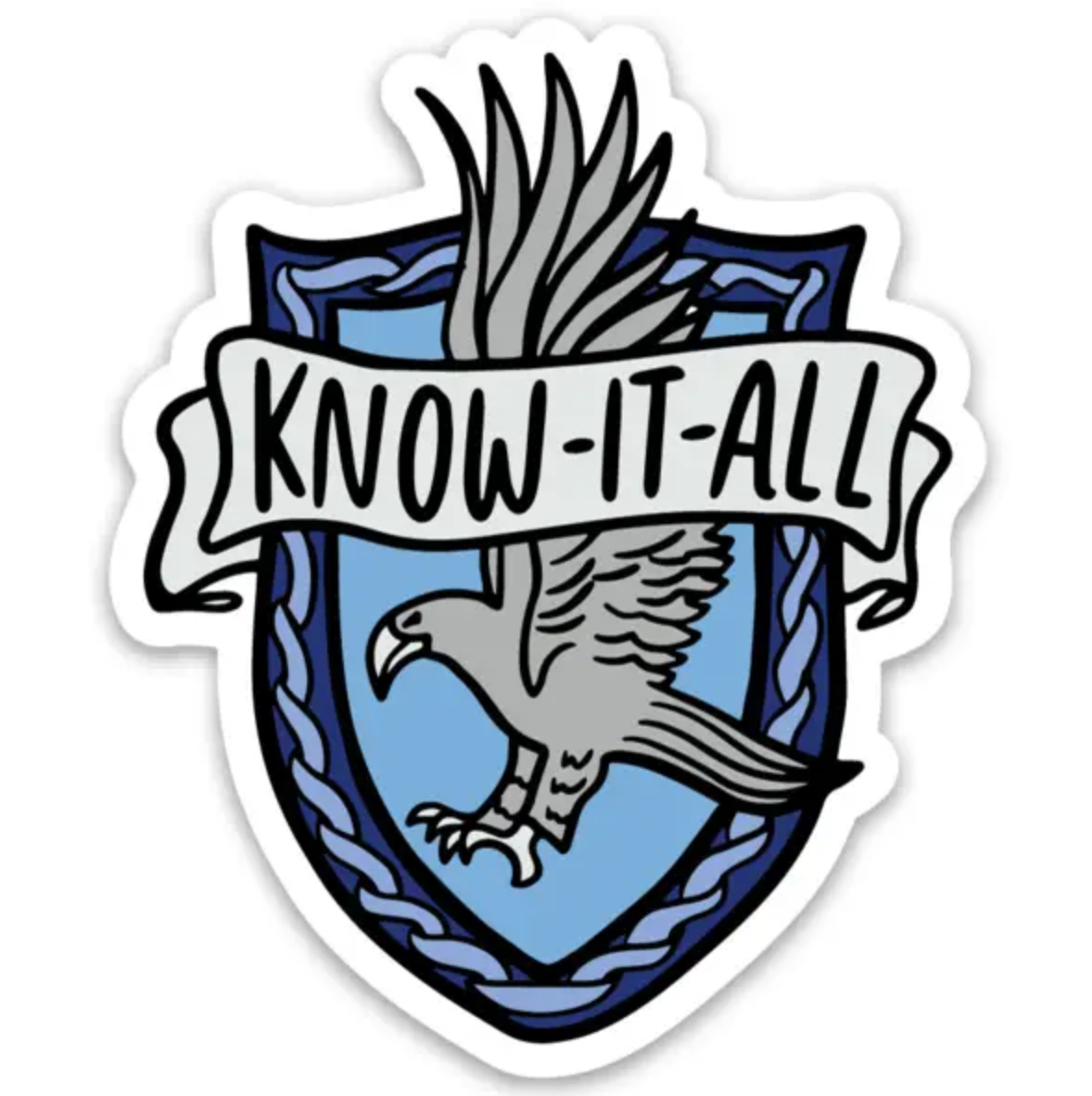 "Brittany Paige HP Ravenclaw ""Know It All"" Sticker"