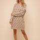 Hem & Thread Dotty Sweater Dress-Natural/Black