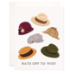 Bloomwolf Studio Hats Off Greeting Card