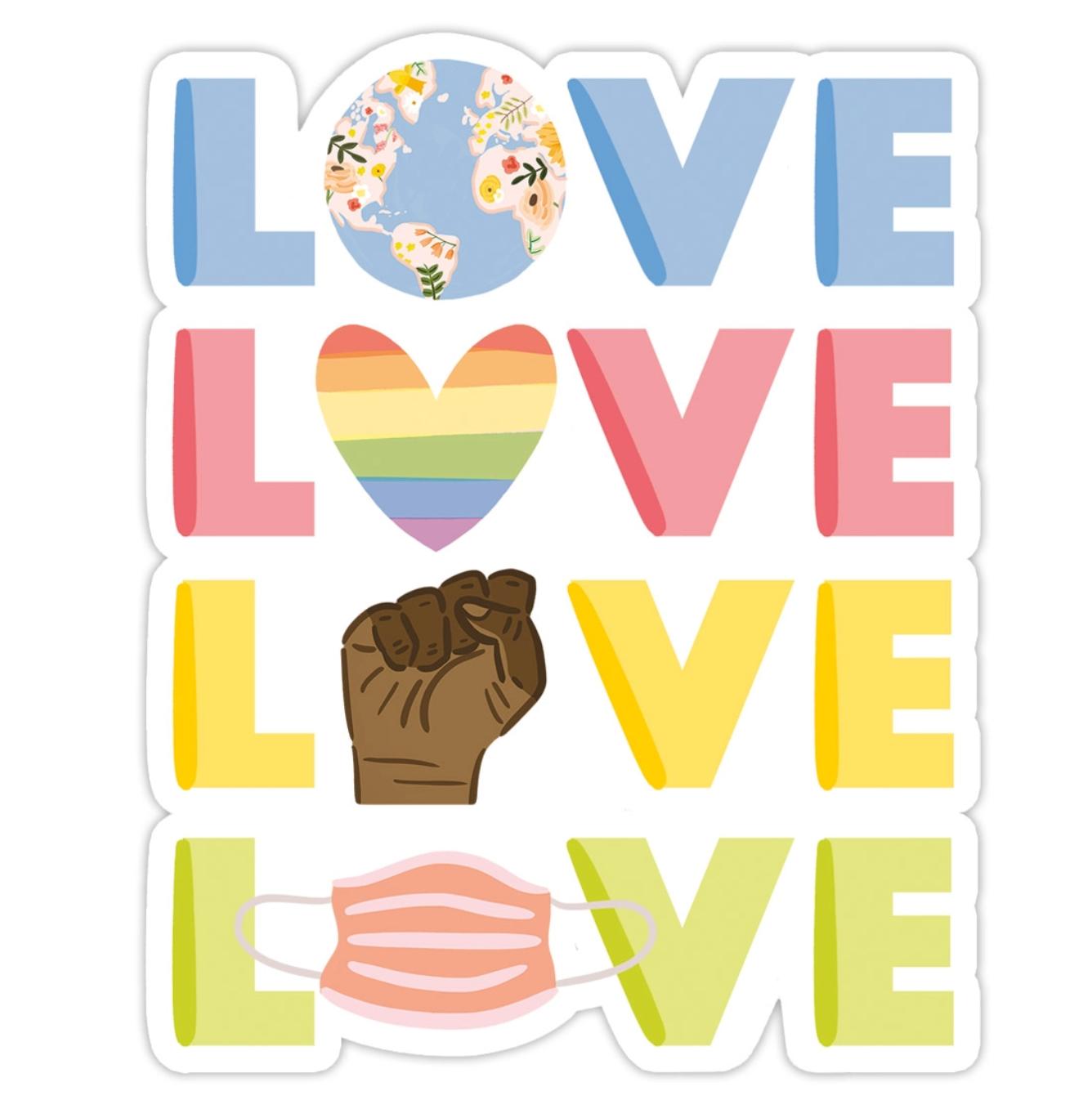 Bloomwolf Studio Love Sticker