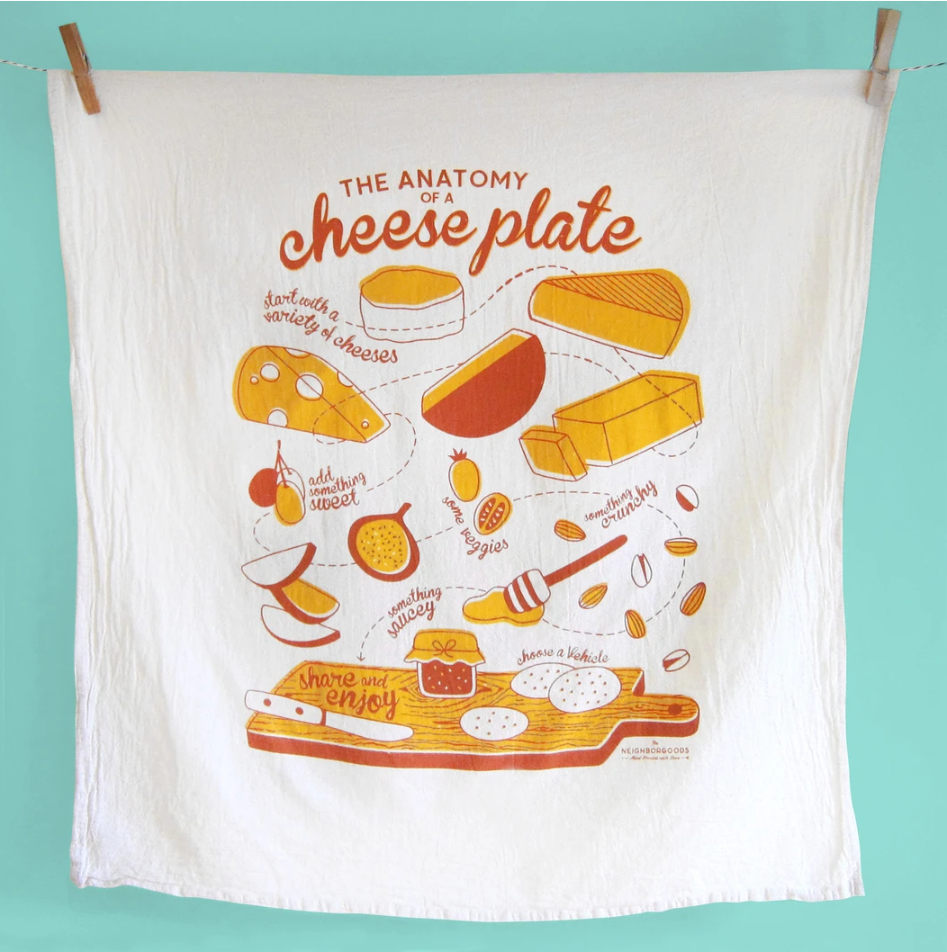 The Neighborgoods Tea Towel-Cheese Plate