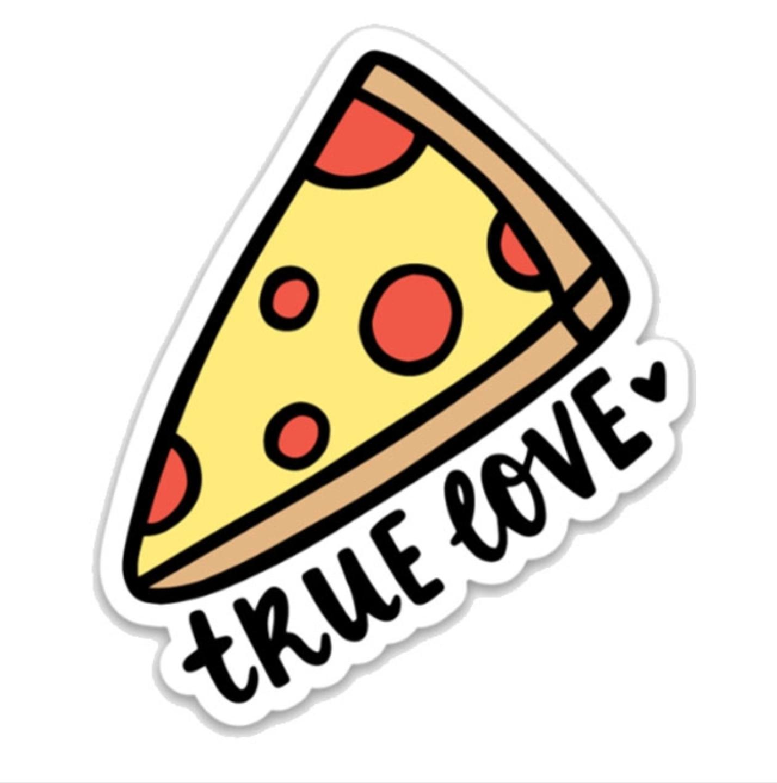 Brittany Paige True Love Pizza Sticker