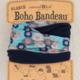 Natural Life Fleece Boho Bandeau-Aqua Floral - FINAL SALE