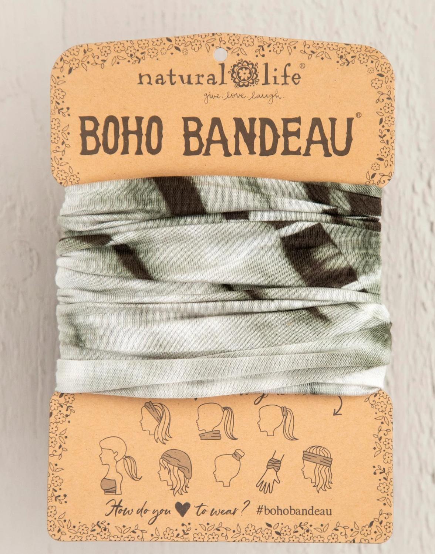 Natural Life Boho Bandeau - Olive Tonal TieDye