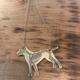 J. Topolski Brass Pitbull Necklace