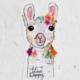 Natural Life Llive Happy Llama Sticker