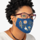 Natural Life Embroidered Face Mask-Denim Neutral