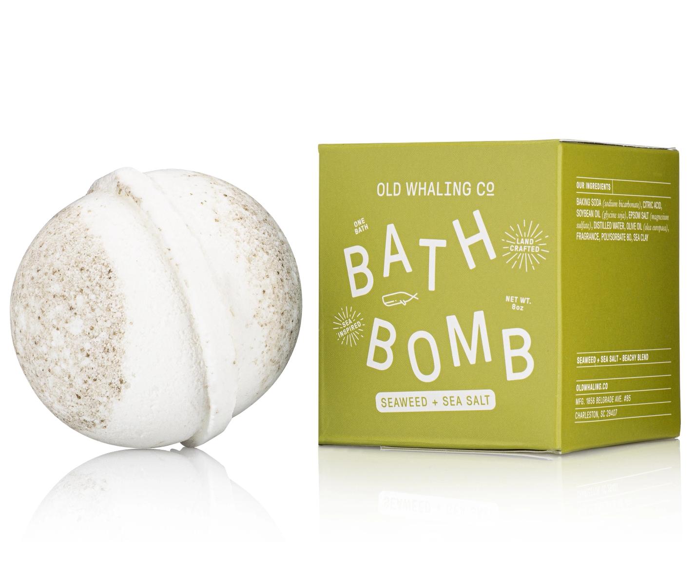 Old Whaling Company Seaweed + Sea Salt Bath Bomb