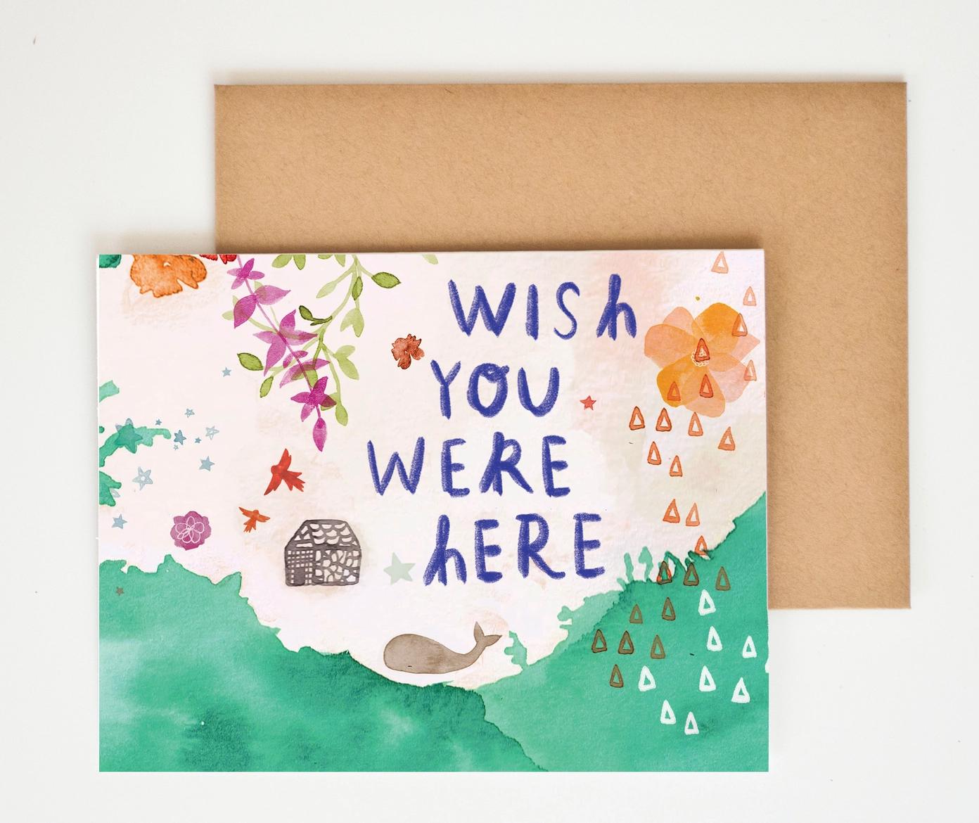Meera Lee Patel Wish You Were Here Card