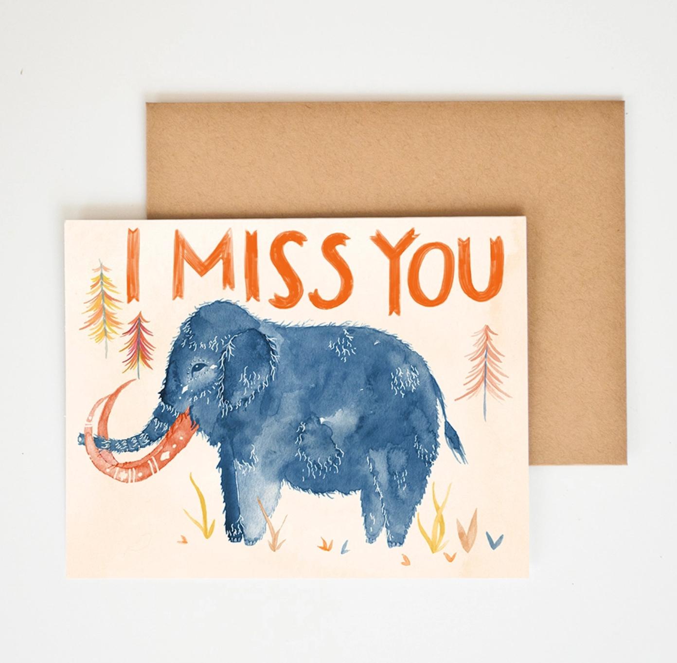 Meera Lee Patel I Miss You Card