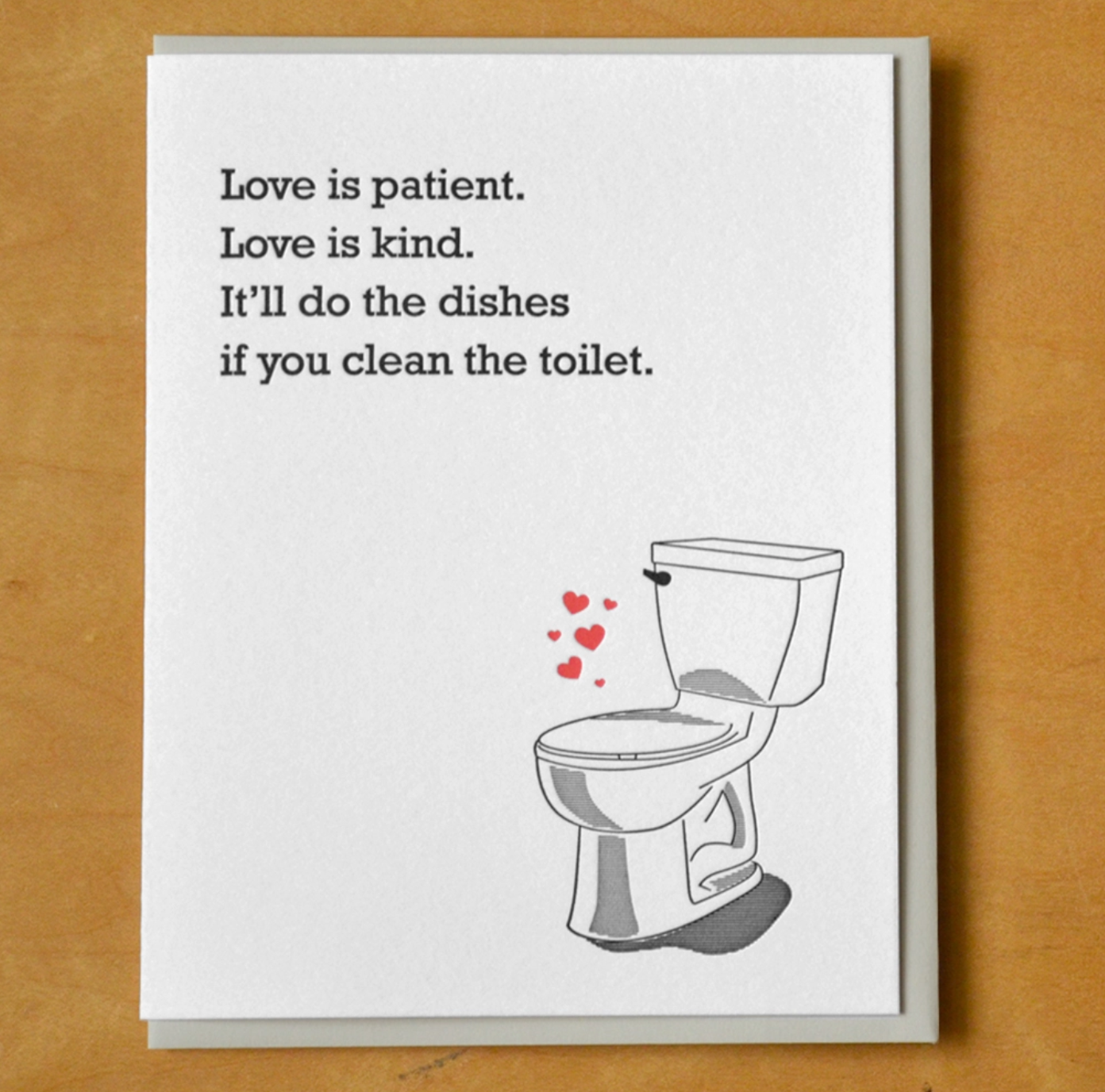 McBitterson's Love Will Clean The Toilet Greeting Card