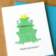 McBitterson's Maybe Kiss Harder Frog Greeting Card