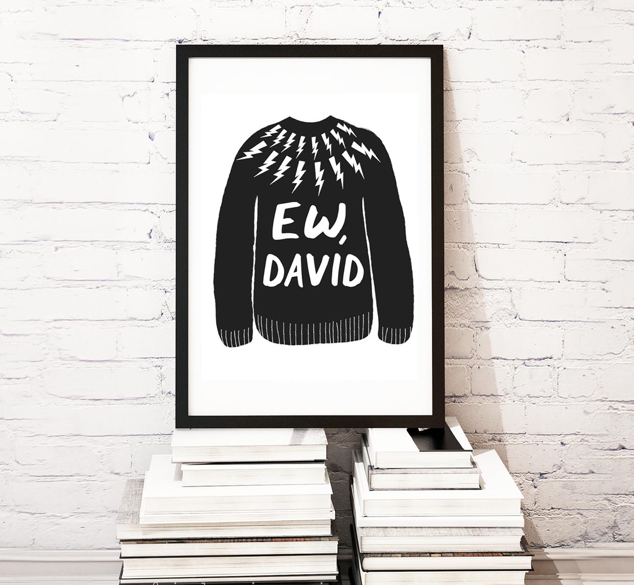 Nicole Marie Paperie Ew, David - Wall Print