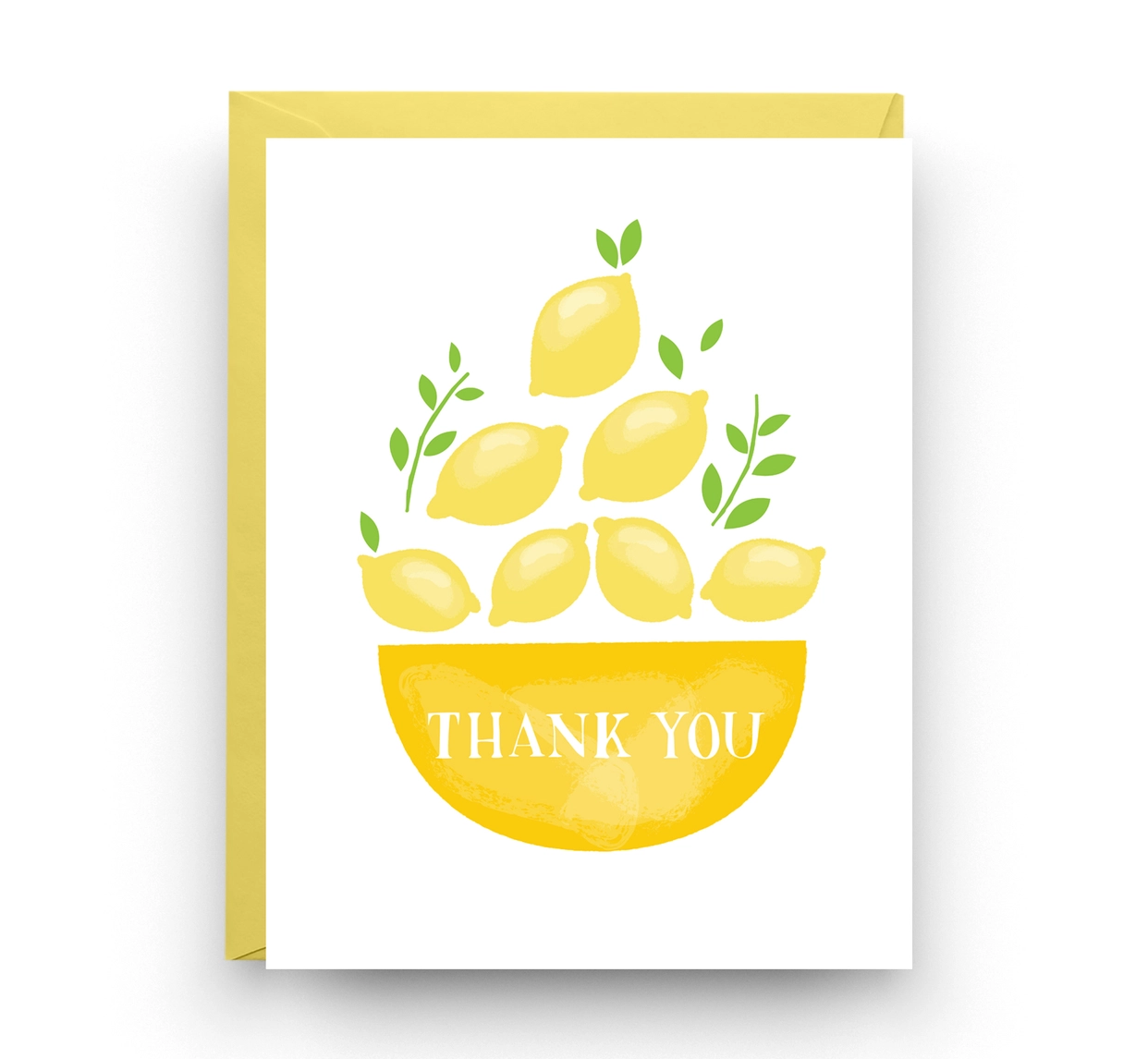 Nicole Marie Paperie Lemon Thank You Card