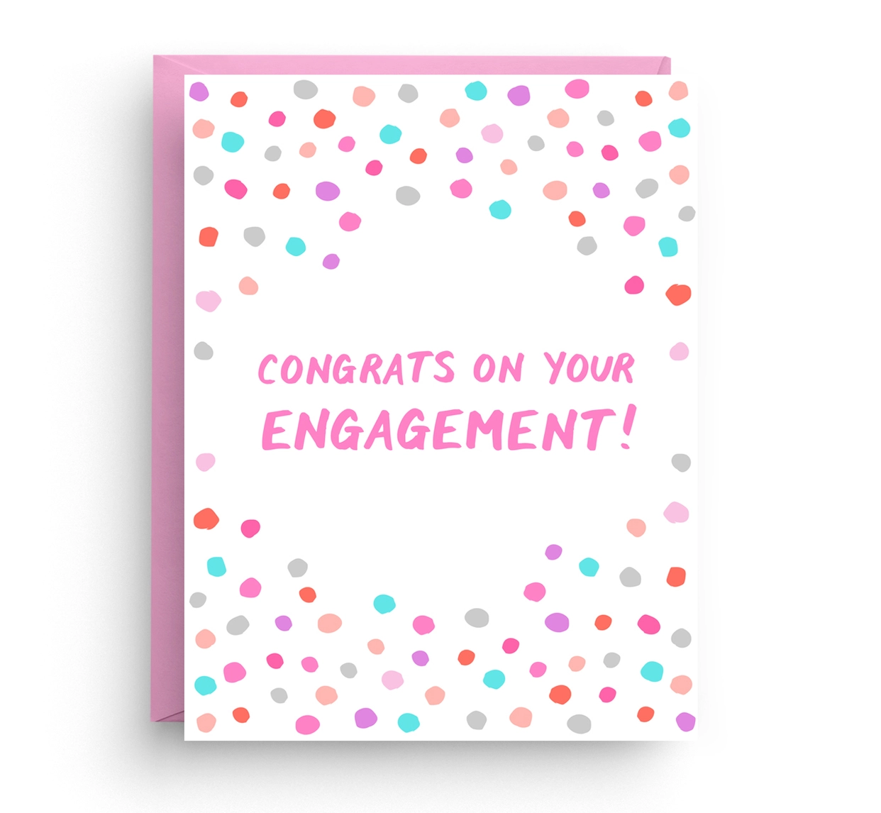 Nicole Marie Paperie Confetti Engagement Card