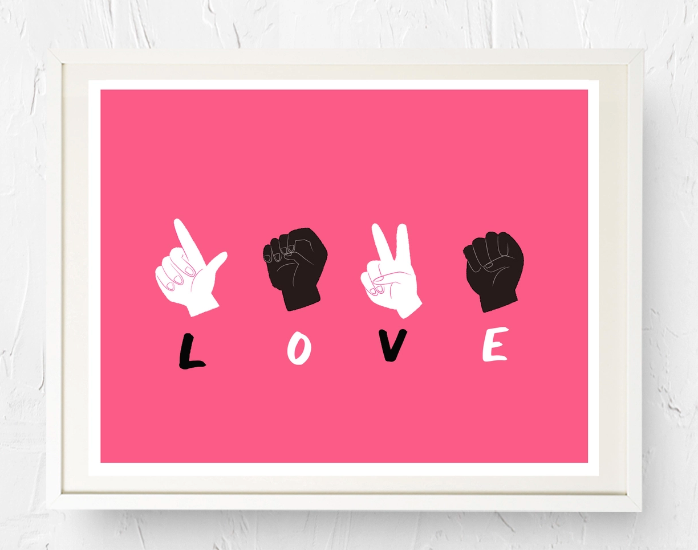 Nicole Marie Paperie Black Lives Matter - Love Print