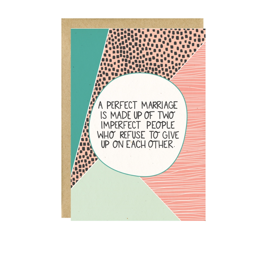 Little Lovelies Studio A Perfect Marriage Wedding Card