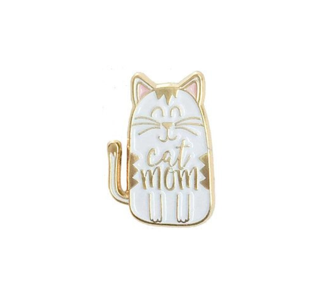 Little Lovelies Studio Cat Mom Enamel Pin