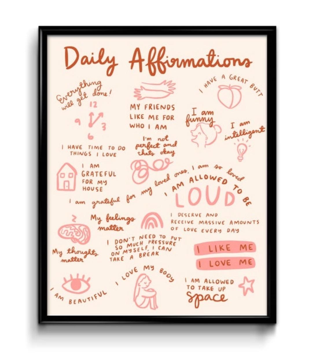 Abbie Paulhus Daily Affirmations Print