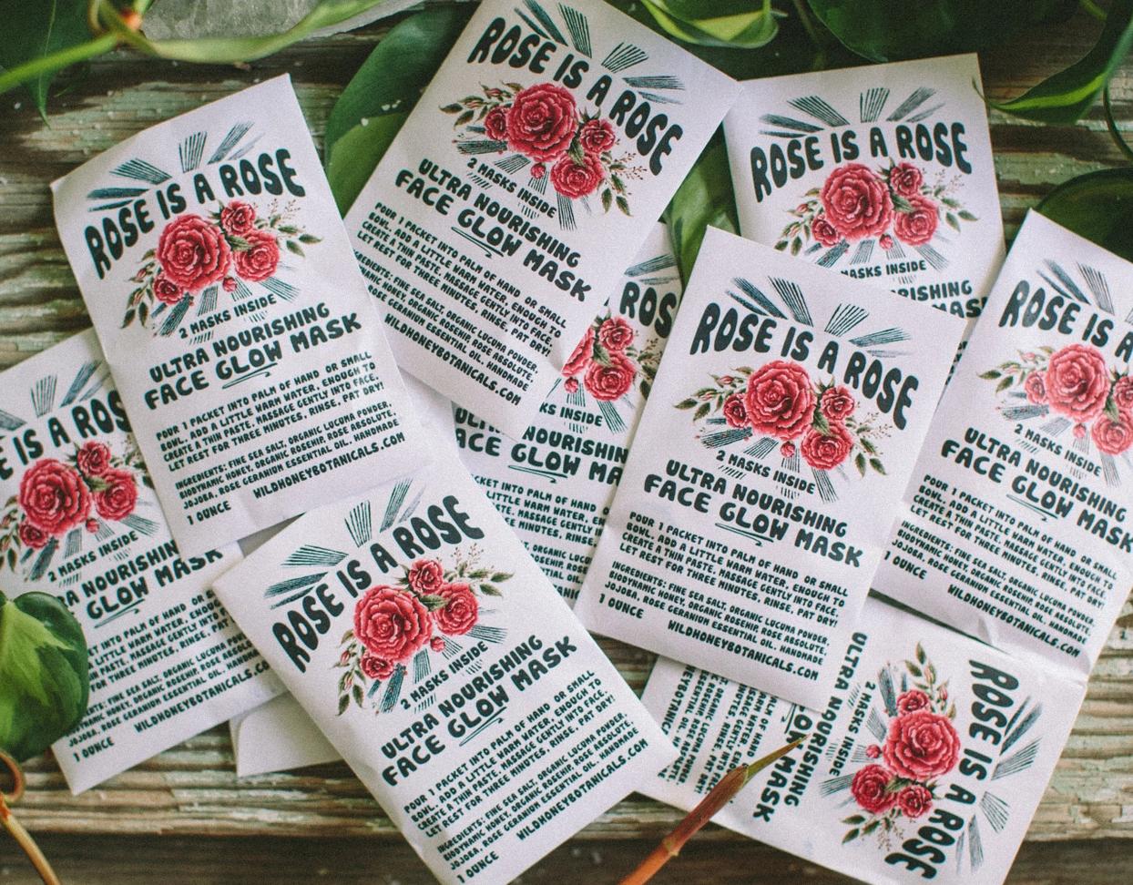 Wild Yonder Botanicals Rose is a Rose Face Scrub Glow