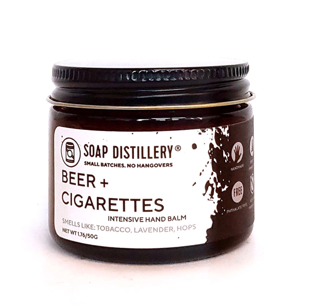 Soap Distillery Beer + Cigarettes Intensive Hand Balm