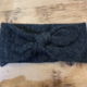 David & Young Bow Knit Headwrap-Black
