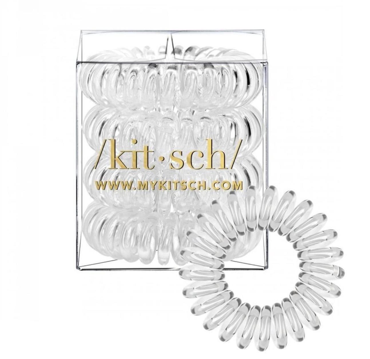 Kitsch Transparent Hair Coils - Pack of 4