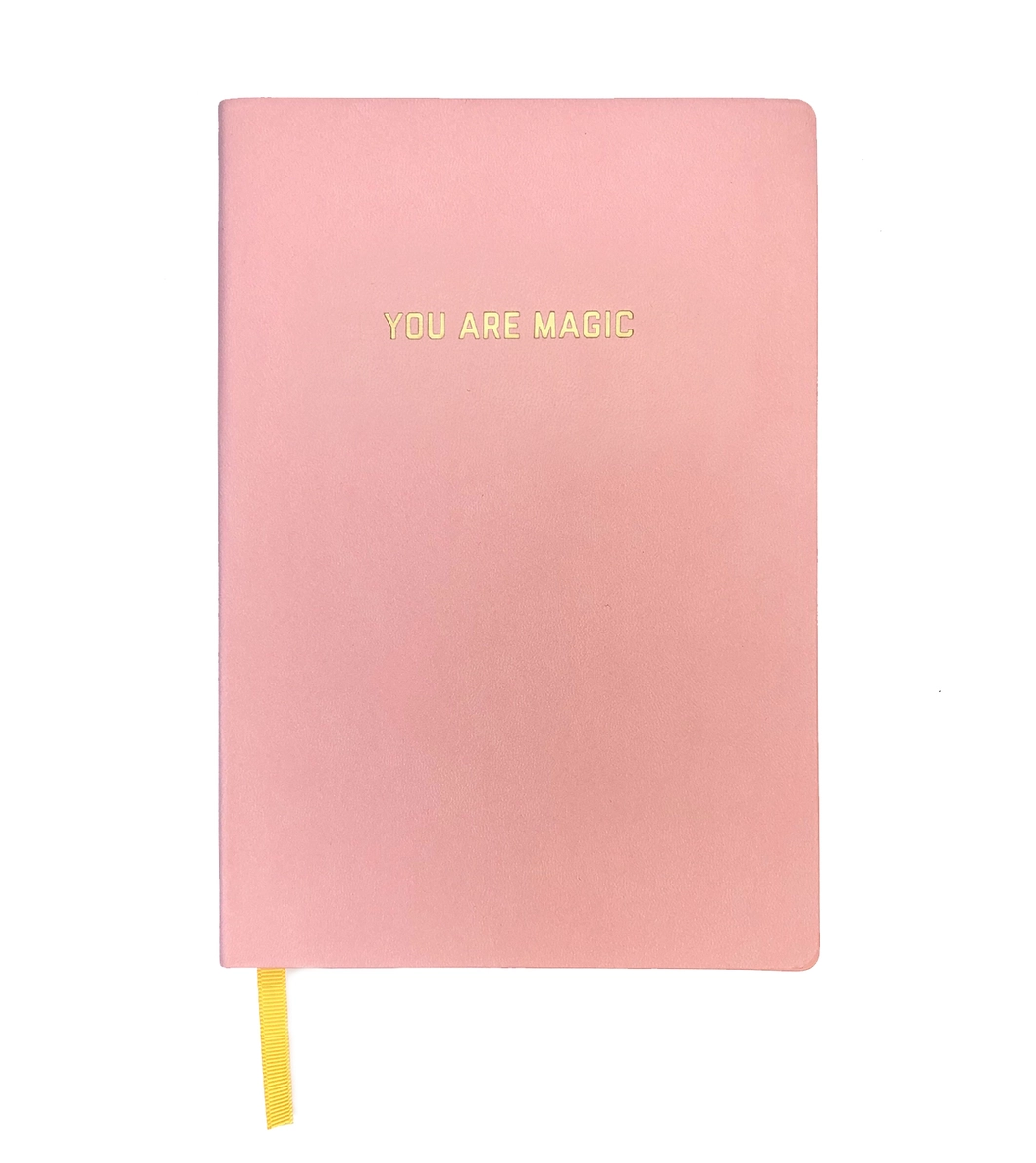 Golden Gems You Are Magic Blank Journal - Light Pink
