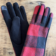David & Young Buffalo Plaid Gloves - Red