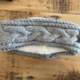 David & Young Cable Headwrap w/Lining - Light Grey
