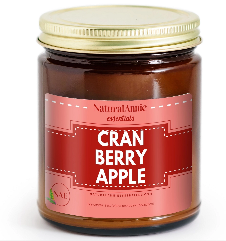 NaturalAnnie Essentials Cranberry Apple Soy Candle 9oz