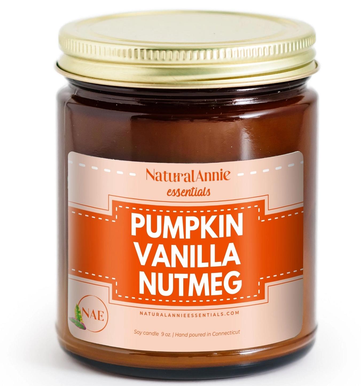 NaturalAnnie Essentials Pumpkin Vanilla Nutmeg Soy Candle - 9oz