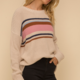 Hem & Thread Boyfriend Color Stripe Sweater-Multi - FINAL SALE