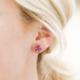 JaxKelly Earring - Amethyst Gemstone Prong