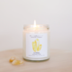 JaxKelly Citrine Crystal Candle