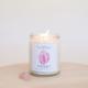 JaxKelly Rose Quartz Crystal Candle